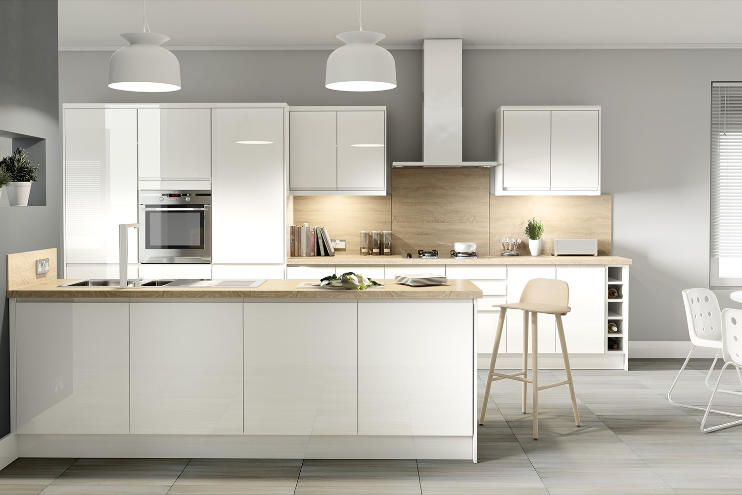 Capri White - Clean and Simple Kitchen Units